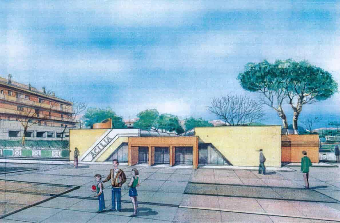 Stazione di Acilia, disegno arch. Bruno Morelli