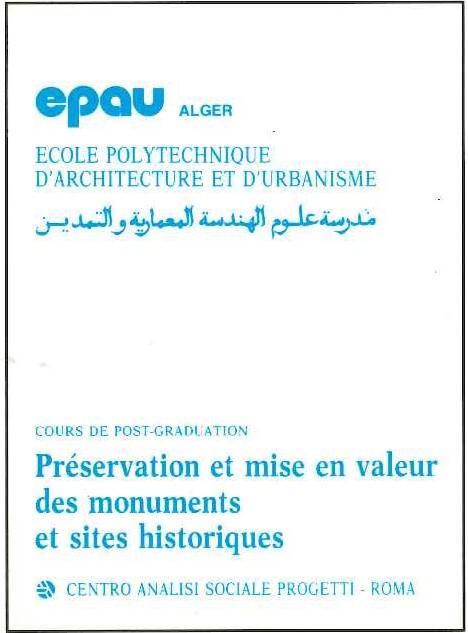 pubblicazione epau Preservation et mise en valeur des monuments et sites historiques
